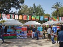 节日,来自世界各地学生 照片显示哈萨克斯坦,吉尔吉斯斯坦,阿塞拜疆国家  库存照片