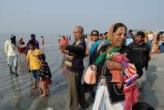 节日ganga sagar的印度 免版税图库摄影