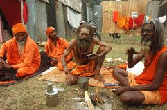 节日gangasagar印度 库存照片