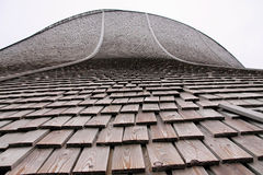 细节木木瓦屋顶,挪威 免版税库存照片