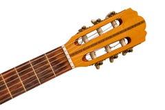 细节的老古典吉他关闭 免版税库存图片