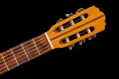 细节的老古典吉他关闭 免版税图库摄影