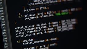 节目代码在显示器移动 影视素材