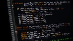 节目代码在显示器移动 股票视频
