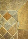 细节砂岩正方形石头瓦片 库存图片