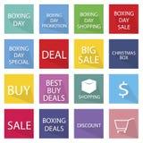 节礼日横幅的汇集特价产品的 免版税库存照片
