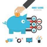节约金钱钞票黑色计算器的概念 免版税库存照片