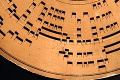 细节老音乐纪录轮子 免版税库存照片