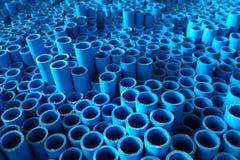 细节蓝色管子 免版税库存图片