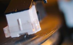 细节被射击一部电唱机 免版税库存照片