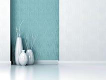 室内设计。 客厅墙壁。 免版税库存图片
