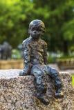 细节铜雕塑在奥卢 图库摄影