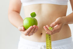 节食和锻炼 免版税库存图片