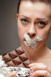 节食女孩 免版税库存照片