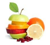 节食混合的新鲜水果 免版税图库摄影