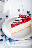 节食清淡的点心用新鲜水果和果冻 库存图片