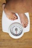 节食的妇女 库存照片