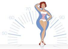 节食的妇女 免版税图库摄影