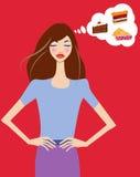 节食的妇女 免版税库存照片