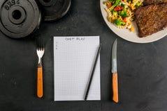 节食的概念,计数卡路里 免版税库存照片