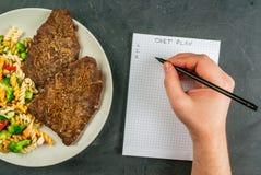 节食的概念,计数卡路里 免版税库存图片