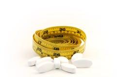 节食的药片 免版税库存照片