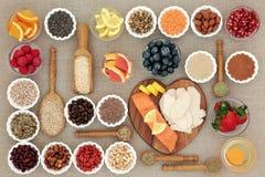 节食的超级食物 库存图片