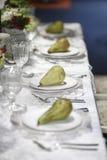 节食盘玻璃评定集合表磁带水 免版税图库摄影