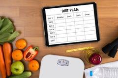 节食计划健康吃,节食,减肥并且称损失conce 免版税库存照片