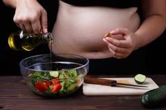 节食,健康食物,衡量丢失,福利,好油脂 Unr 免版税库存照片