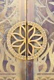 细节,迪拜特写镜头在清真寺门的 图库摄影