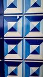 细节azulejos瓦片蓝色几何样式 库存图片