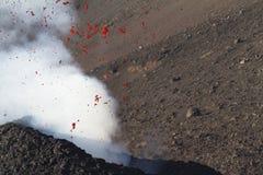 细节lapilli和火山的炸弹 免版税库存图片