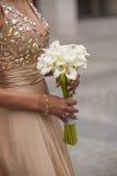 水芋属Lilly婚礼花束 免版税图库摄影