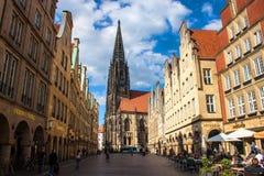 芒斯特,德国 免版税图库摄影