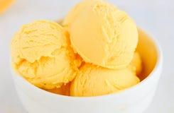 芒果冰冻酸奶酪冰淇凌 免版税库存照片