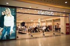 芒果商店 在中央节日清迈的照片 库存照片
