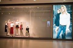 芒果商店 在中央节日清迈的照片 免版税库存图片