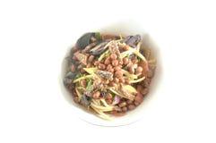芒果沙拉从泰国的一道可口和著名菜开胃菜 库存图片