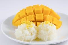 芒果用黏米饭 库存照片
