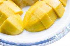 芒果黏米饭 库存照片
