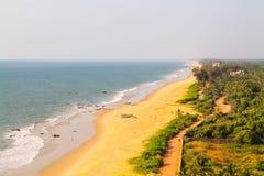 芒格洛尔kundapur海滩区域 免版税库存图片