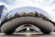 芝加哥云彩门 库存图片