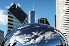芝加哥云彩门 库存照片