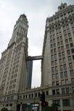 芝加哥人行桥 库存照片