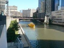 芝加哥伊利诺伊出租汽车水 免版税库存照片