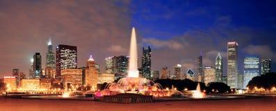 芝加哥全景 免版税图库摄影