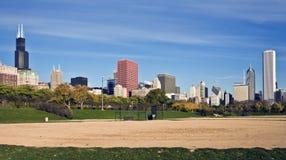 芝加哥全景 库存照片