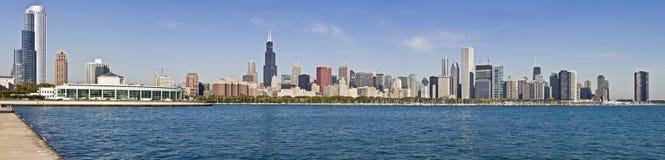 芝加哥全景xxxl 免版税库存图片