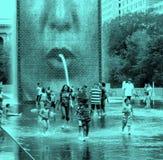 芝加哥冠喷泉 免版税库存照片